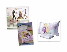 NEW DISNEY TANGLED RAPUNZEL MICRO MINK SHEET PILLOWCASE BLANKET DECALS 4 PC SET