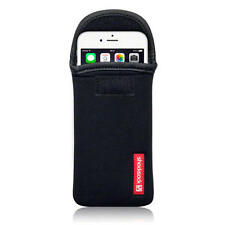Shocksock Negra De Neopreno bolsa caso para Apple iPhone 6 (4,7 Pulgadas)