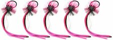 Zest 5 Spiders Web Ponytail Hair Bands with Hair Halloween Neon Pink & Black