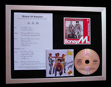 BONY M Rivers Of Babylon SUPERB CD MUSIC FRAMED DISPLAY+EXPRESS GLOBAL SHIP