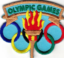 """""""OLYMPIC GAMES"""" -  Iron On Embroidered Patch- Sports, Words, Games, Compete"""