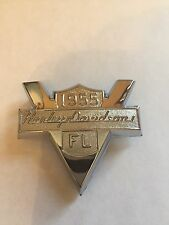 Harley Davidson 1955 Panhead FL Front Fender Emblem Chrome Backrest Emblem