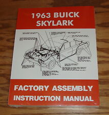 1963 Buick Skylark Factory Assembly Instruction Manual 63