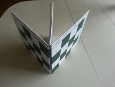 "Double Folding Green White Tournament Chess Board 20"" with 2.25"" squares"