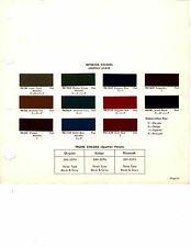1969 DODGE CORONET CHARGER BARRACUDA INTERIOR PAINT CHIPS DUPONT 7