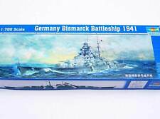 Trumpeter Battleship Bismarck 1941 kit 1:700 NEW German Battleship set