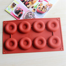 Silicone Donut Mould Muffin Chocolate Cake Food Cookie Baking Mold 8 Cavity
