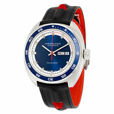 New Hamilton Pan Europ Day-Date Navy Blue Dial Automatic Mens Watch H35405741