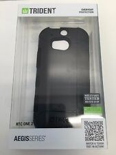 Trident Aegis Black Solid Case for HTC One 2 M8 NEW Sealed