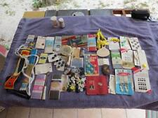 Lot of Vintage Buttons on Cards Zippers Bakelite Dritz Tracing Wheel Needles