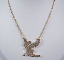 Disney Couture Crystal Tink on Knees Necklace