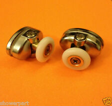 2 x Single TOP Shower Door ROLLERS /Runners /Wheels 23mm in Diameter L077-2