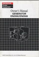 2001 HONDA GENERATOR EN2000, EN2500 OWNERS MANUAL (904)