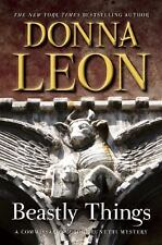 Beastly Things-Donna Leon-2012 Commissario Guido Brunetti Mystery-HC/DJ