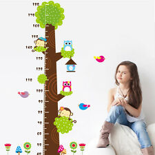 Squirrel Owl Bird Height Growth Chart Wall Sticker Decal Kids Room Nursery Decor