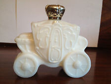 Avon White Milk Glass Royal Coach Carriage Decanter, RARE, HTF, VTG, Empty
