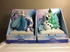 Disney FROZEN Olaf & Elsa Christmas Stocking Holders/Hangers - New For 2015