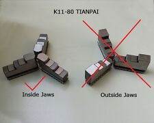 """Inside Jaws 1set for TIANPAI 3"""" 3 Jaw Lathe Chuck K11-80 80mm Self Centering M6"""