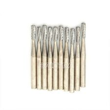 10PCS Dental Tungsten Steel Carbide Burs Drills FG-558 for High Speed Handpiece