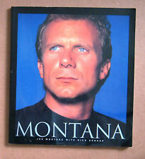 Joe Montana with Dick Schaap Large paperback book 1995 - Notre Dame, SF 49er's.