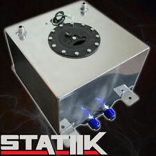 57L/15 GALLON FUEL CELL TANK W CAP GAS POLISHED RACING LEVEL SENDER UNIT B2