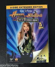 Hannah Montana & Miley Cyrus: Best of Both Worlds Concert DVD, 2008, 2-Disc NEW