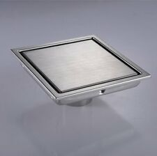 Stainless Steel 6-inch Square Shower Floor Drain  with Tile Insert Grate