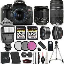 Canon EOS Rebel T6i / 750D 24.2 MP DSLR Camera + 18-55mm IS STM LENS +75-300 II