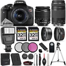 Canon EOS Rebel T6i / 750D 24.2 MP DSLR Camera + 18-55mm IS STM LENS +75-300 II