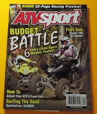 ATV SPORT MAGAZINE APRIL/2006....BUDGET BATTLE:6 ENTRY-LEVEL SPORT MODELS TESTED