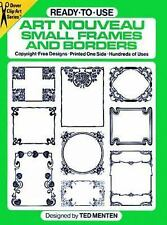 DOVER CLIP ART ~ ART NOUVEAU SMALL FRAMES & BORDERS ~ READY-TO-USE