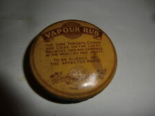 W L U Vapour Rub Tin with contents