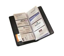 COLLINS BLACK PADDED 98 CAPACITY BUSINESS CREDIT CARD HOLDER WALLET (2740)