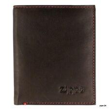 ZIPPO PORTAFOGLIO UOMO VERTICALE-marrone pelle-portafoglio portafoglio