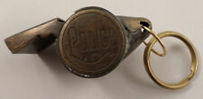 Police Department Whistle Solid Brass Key Ring Chain Fob