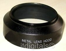 49mm Metal Lens Hood For Normal lenses Anti Glare Black Sun Shade New Screw-in