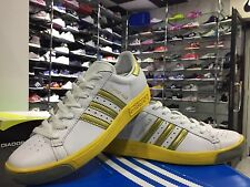 SCARPE N. 39 1/3 ADIDAS FOREST HILLS UK 6 SNEAKERS COL.BIANCO / ORO