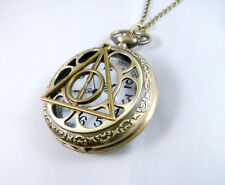 POCKET WATCH CLOCK HARRY POTTER DEATHLY HALLOWS NECKLACE COSPLAY OROLOGIO #3