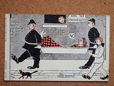 R&L Postcard: Comic Police Policeman, Harry Quinton, Are We Downhearted
