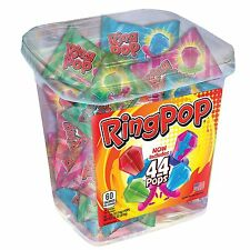 Ring Pop Lollipop Candy Assorted Flavors 44 ct Sealed Tub (NO Sales TAX EX MN)