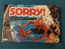 2007 Parker Brothers Sorry Spider Man SPIDERMAN 3 board game Marvel Complete