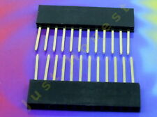 Stk.2x BUCHSENLEISTE /HEADER 12 polig Stapelbar / Stackable 2.54mm Arduino #A412