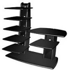 Heavy Duty Black Tech Craft WW49B 32'' Tower TV Stand  Wood Contemporary New
