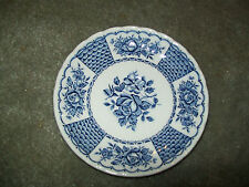 MYOTT MELODY SAUCER FINE IRONSTONE ENGLAND 1982 WHITE / BLUE ROSES