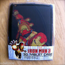 MARVEL IRON MAN 3D TABLET CASE for iPad 2 & 3rd 4th GEN Lenticular AVENGERS