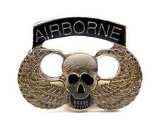 Airborne Skull and Wings US Army Lapel Hat Pin Gift Military PPM029