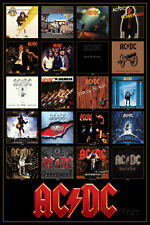 AC/DC Discography Poster Print 24x36 Rock & Pop Music