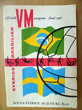 WORLD CUP FINAL 1958: SWEDEN v BRAZIL