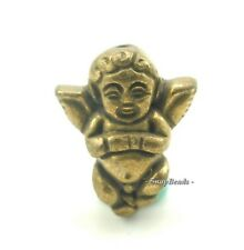 22X18MM GOLD PYRITE GEMSTONE GOLD ANGEL 22X18MM LOOSE BEADS 5 BEADS