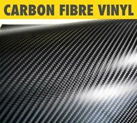 3D or 4D Carbon Fibre Vinyl Wrap Air/Bubble Free Black Multi sizes